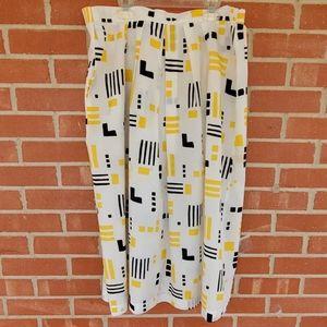 Vintage 1980s geometric skirt size XL